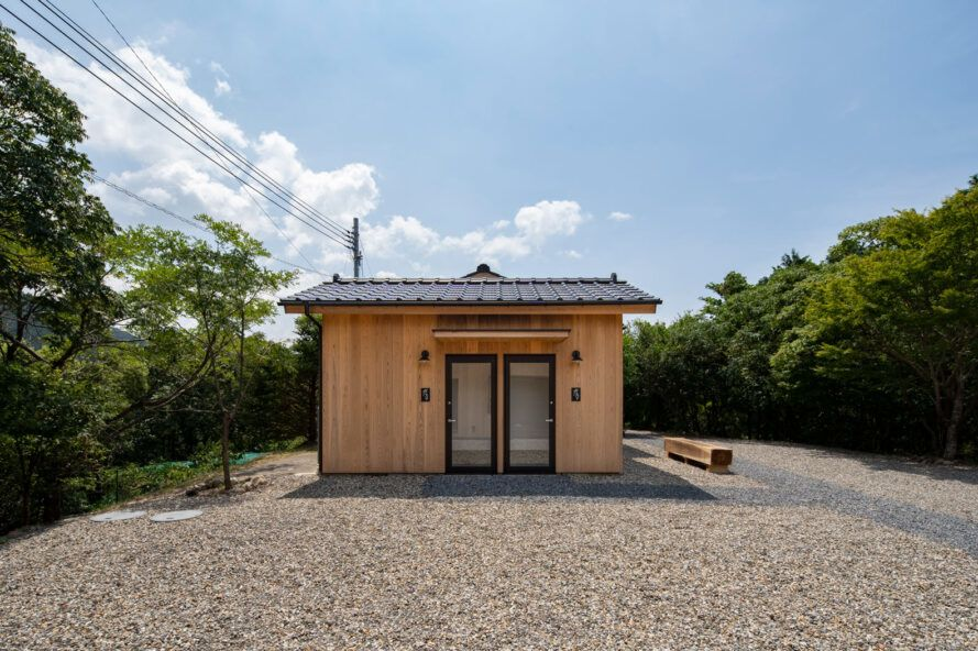 small guesthouse with cedar cladding