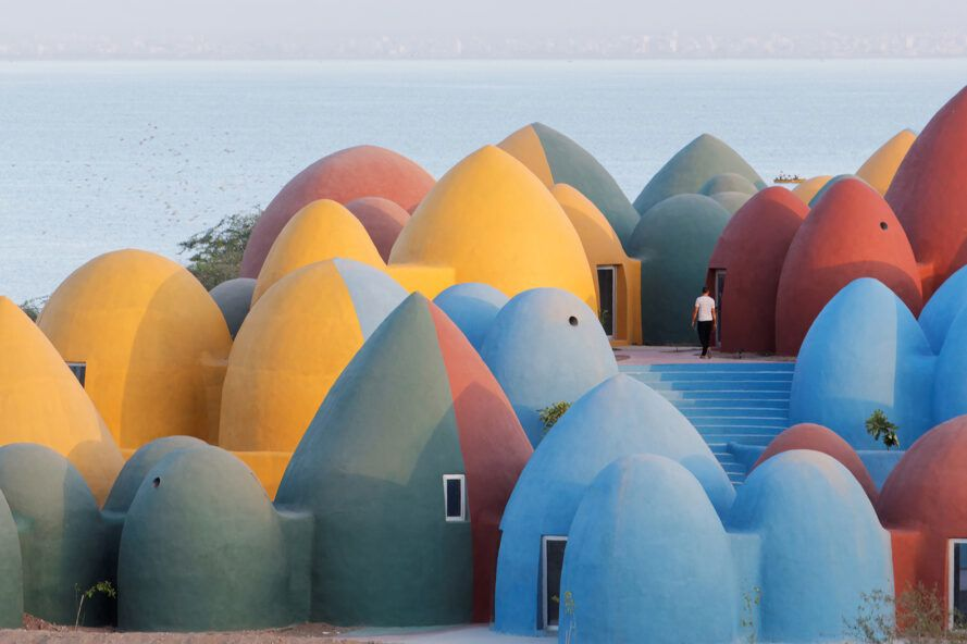 domes of different heights and colors