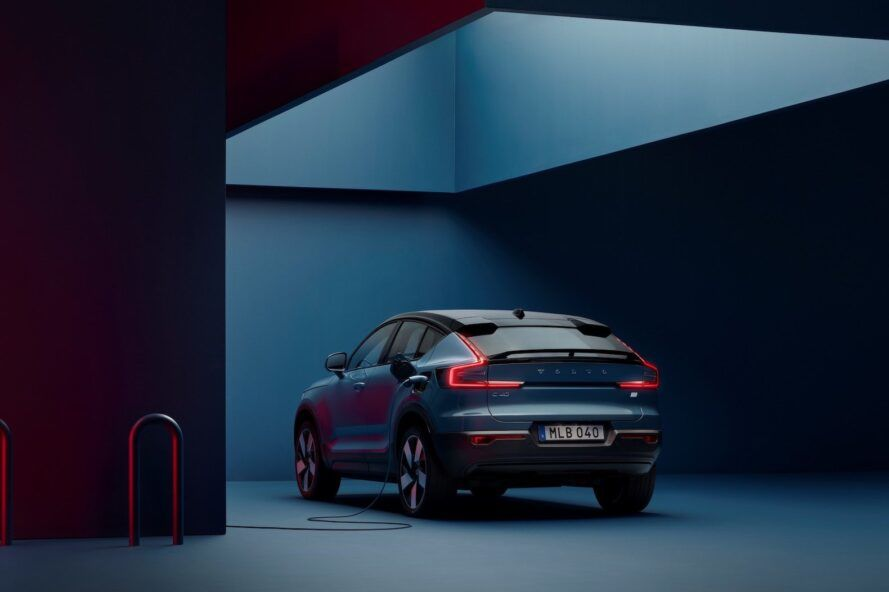 back of Volvo C40 Recharge electric vehicle