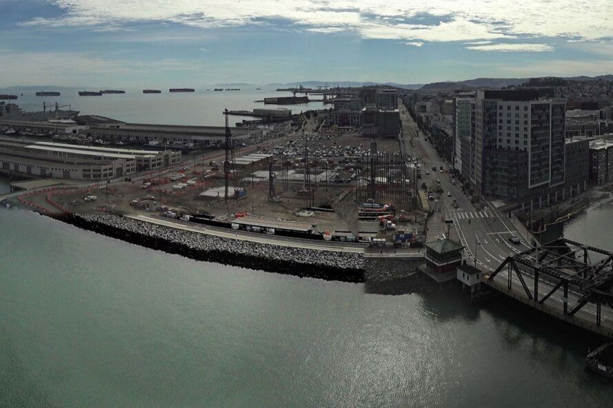 aerial image of construction site