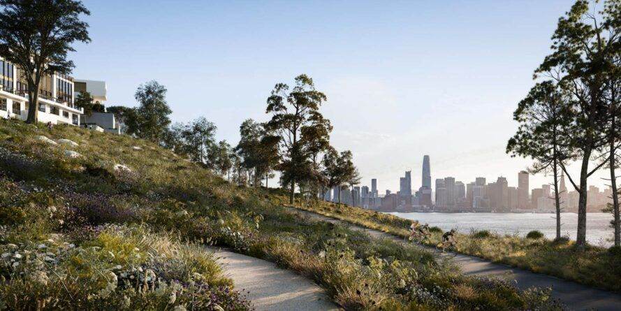 walking trail with views of San Francisco