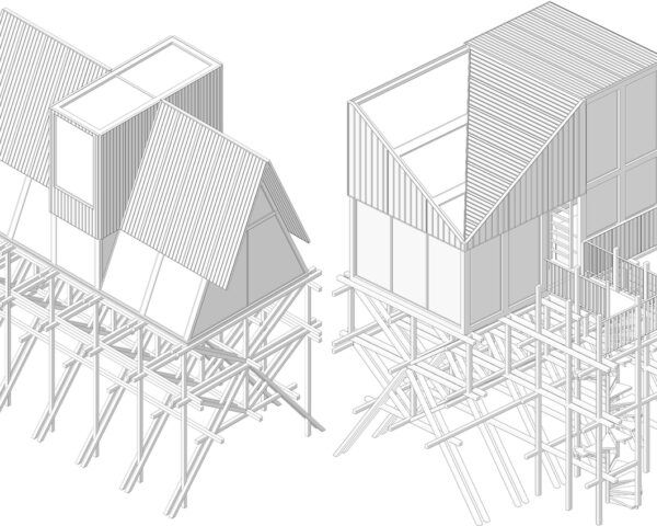diagrams of modular treehouses