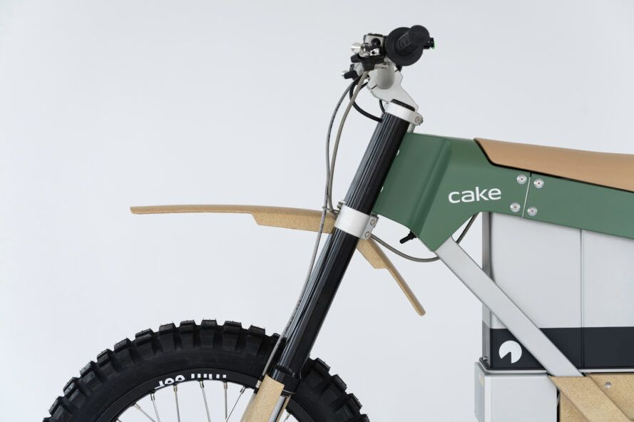 close-up of handle bars on electric bike
