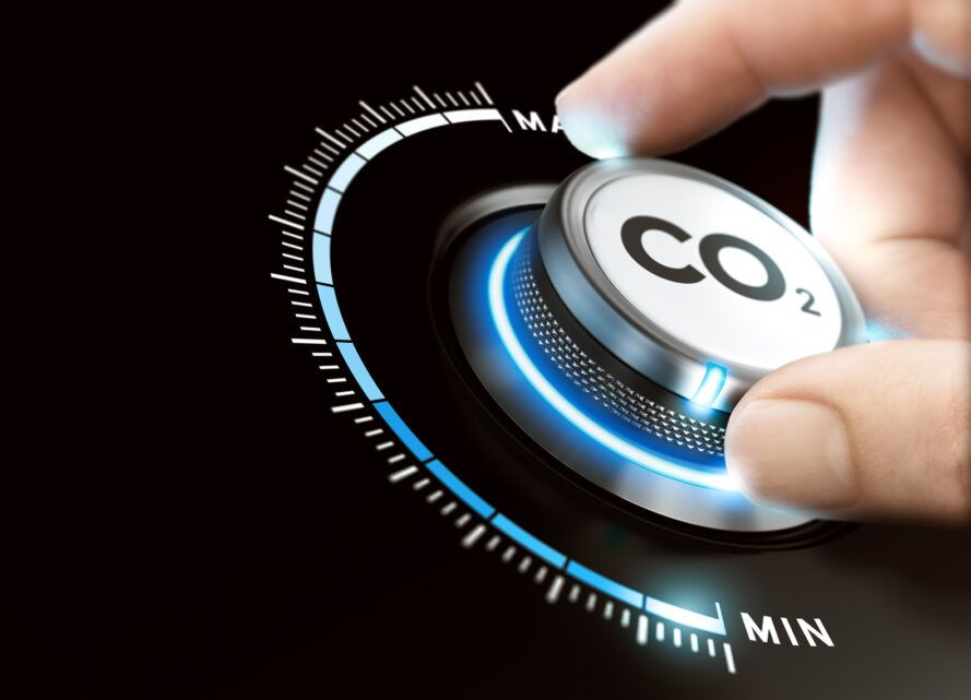 """hand on knob that reads, """"CO2"""""""