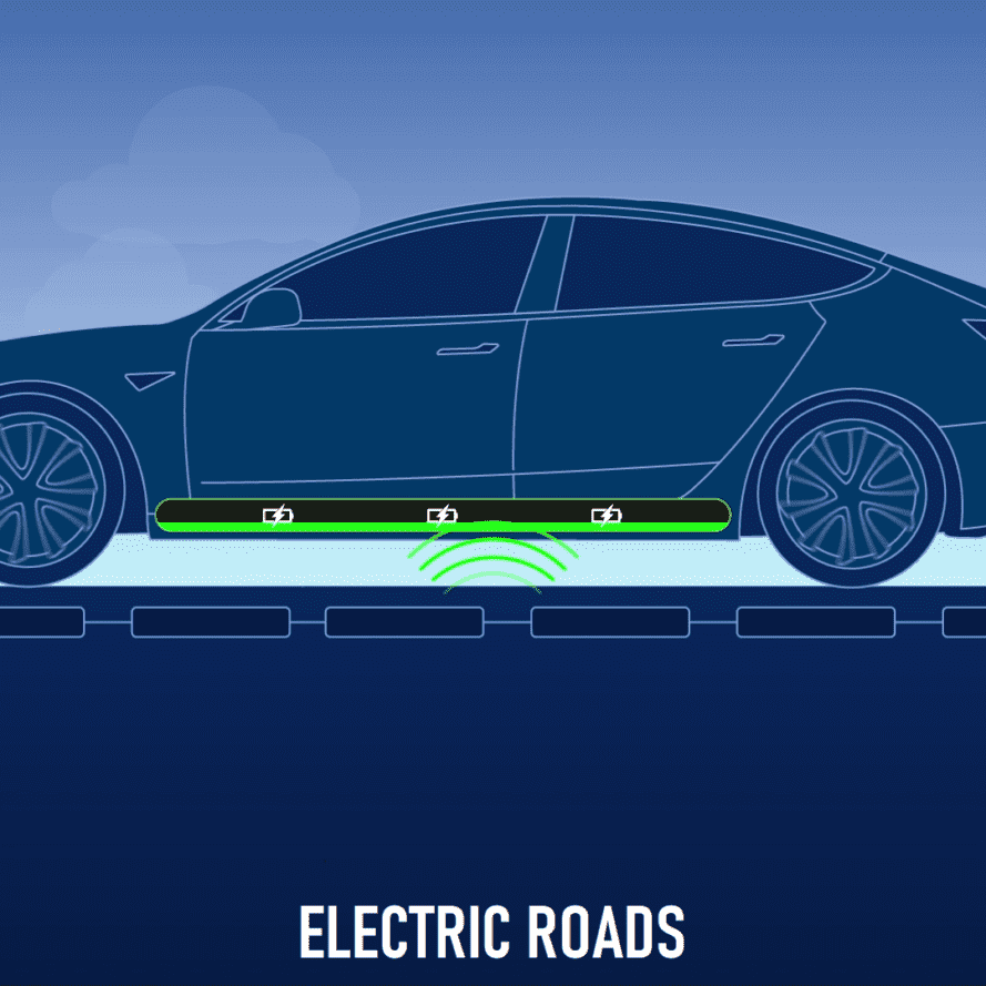 graphic of electric road