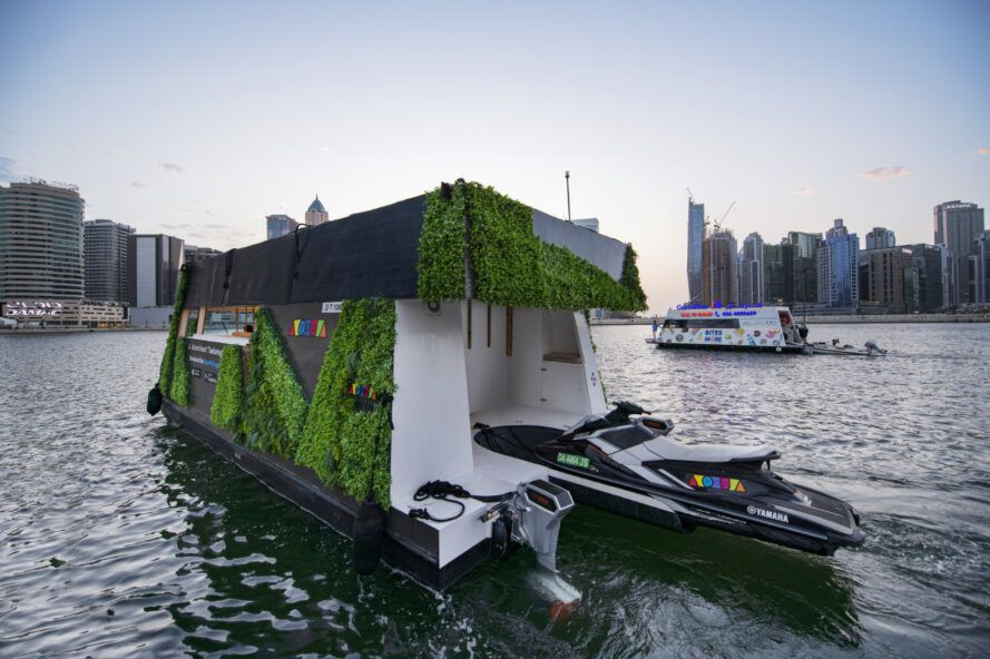 Floating module with greenery