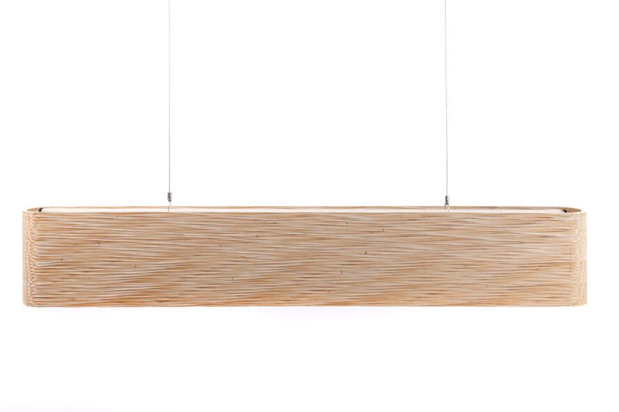 A lighting fixture hanging from the ceiling.