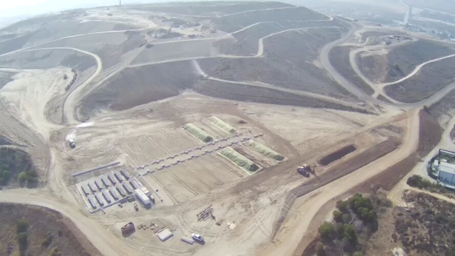 Aeriel view of the compost facility