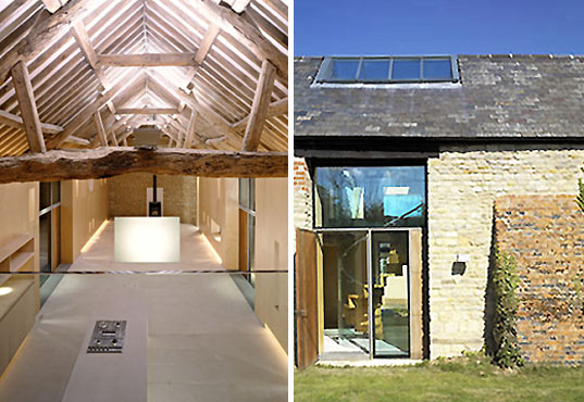 A charming barn converted into a contemporary home for Metal building house conversion