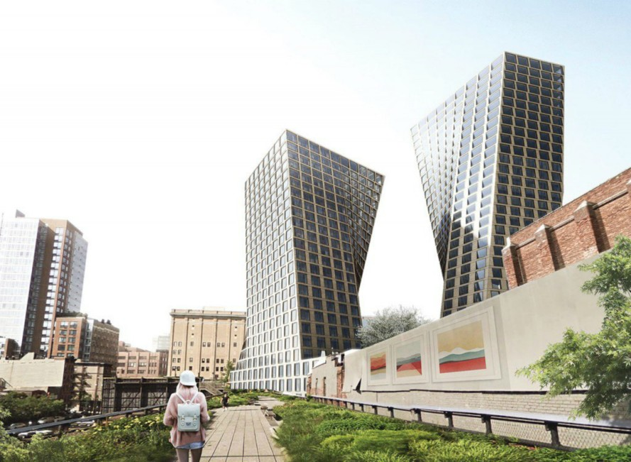 New renderings unveiled for BIG's twisty High Line towers