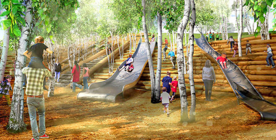 New Governors Island park boasting city's longest slide set to open in May
