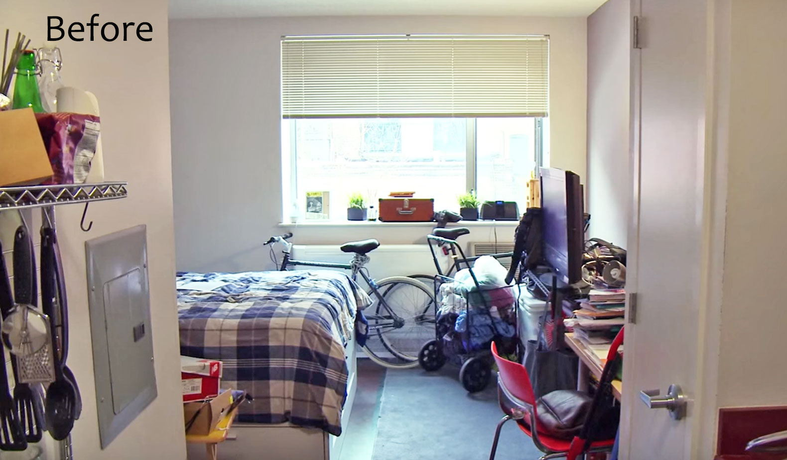 See IKEA's storage-maximizing makeover of a 300-sq-ft studio apartment in the Bronx