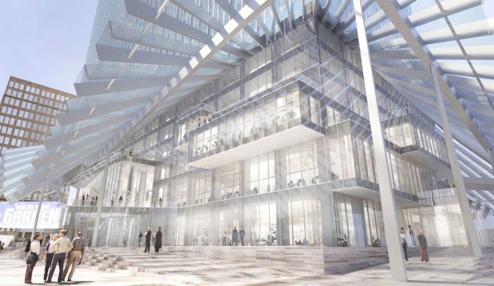BIG wants to transform boring Two Penn Plaza into an undulating sea of glass