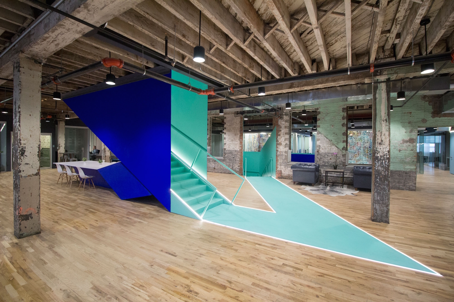 Old Brooklyn factory gets new life as a vibrant co-working space for creatives
