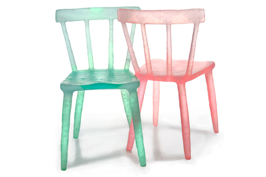 Kim Markel's popsicle-colored recycled chairs and accessories inject a bubbly burst of fun into any room