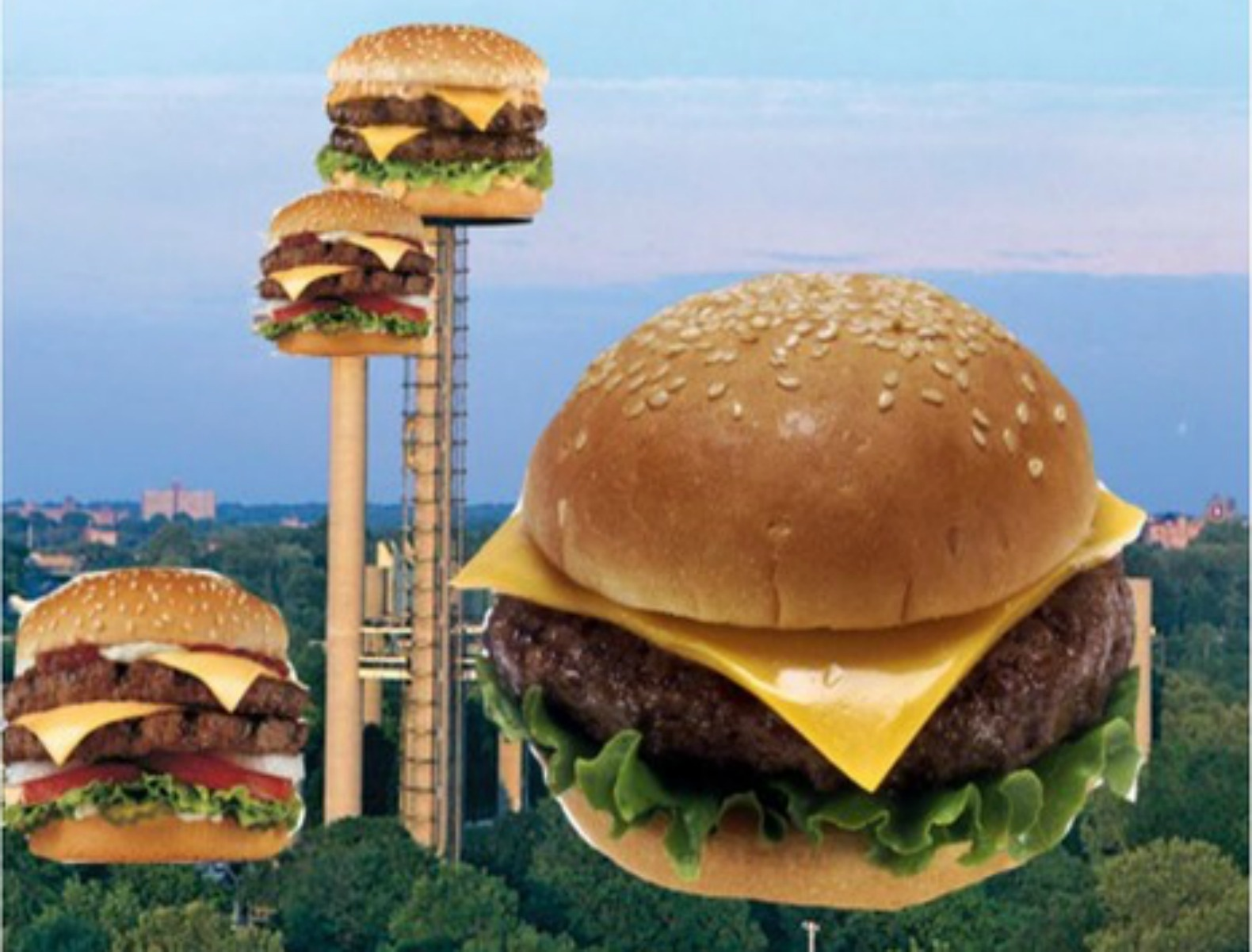 Giant cheeseburger-shaped museum proposed as a way to revitalize the New York State Pavilion