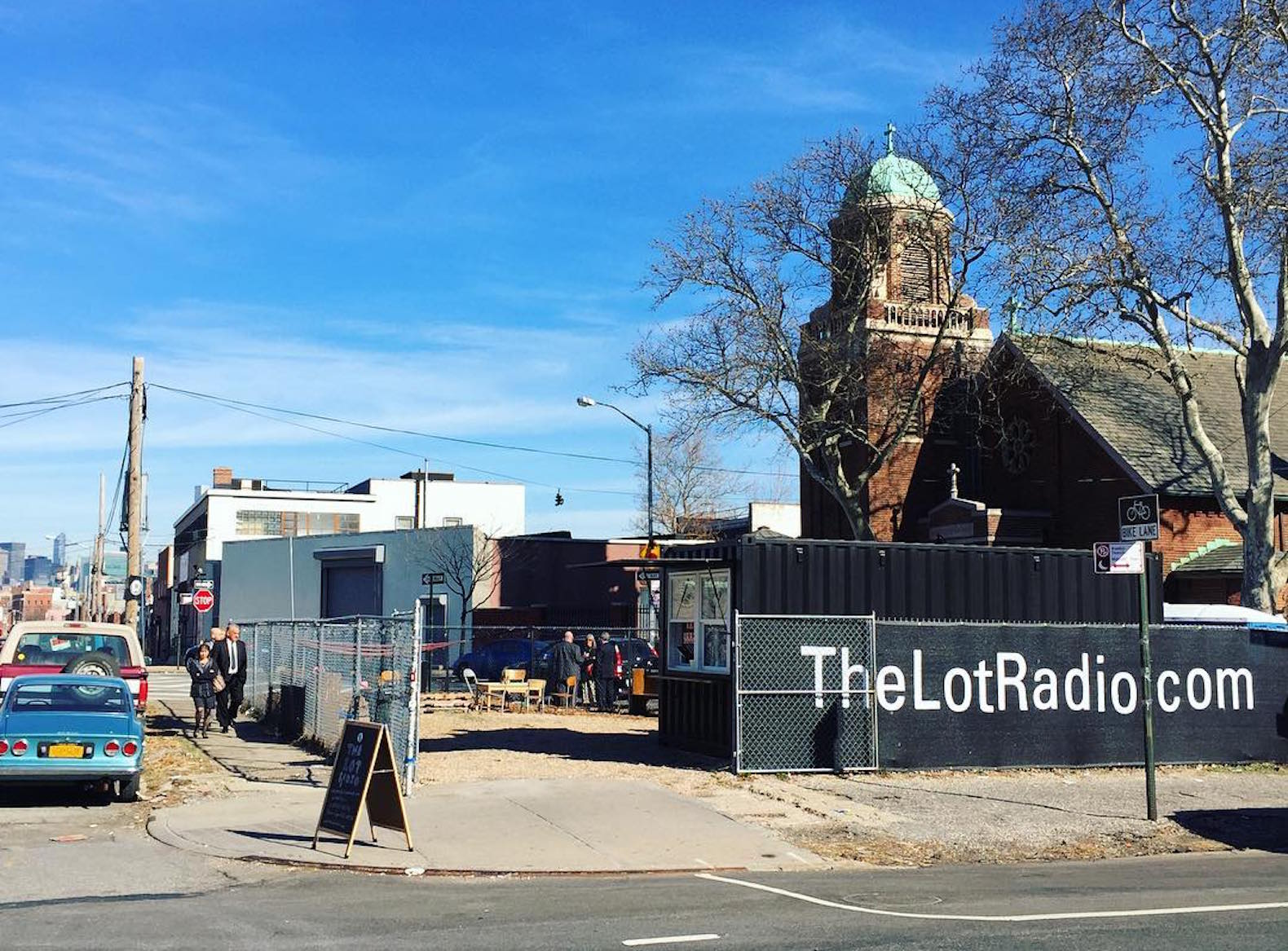 Reclaimed shipping container radio station pops up in Greenpoint