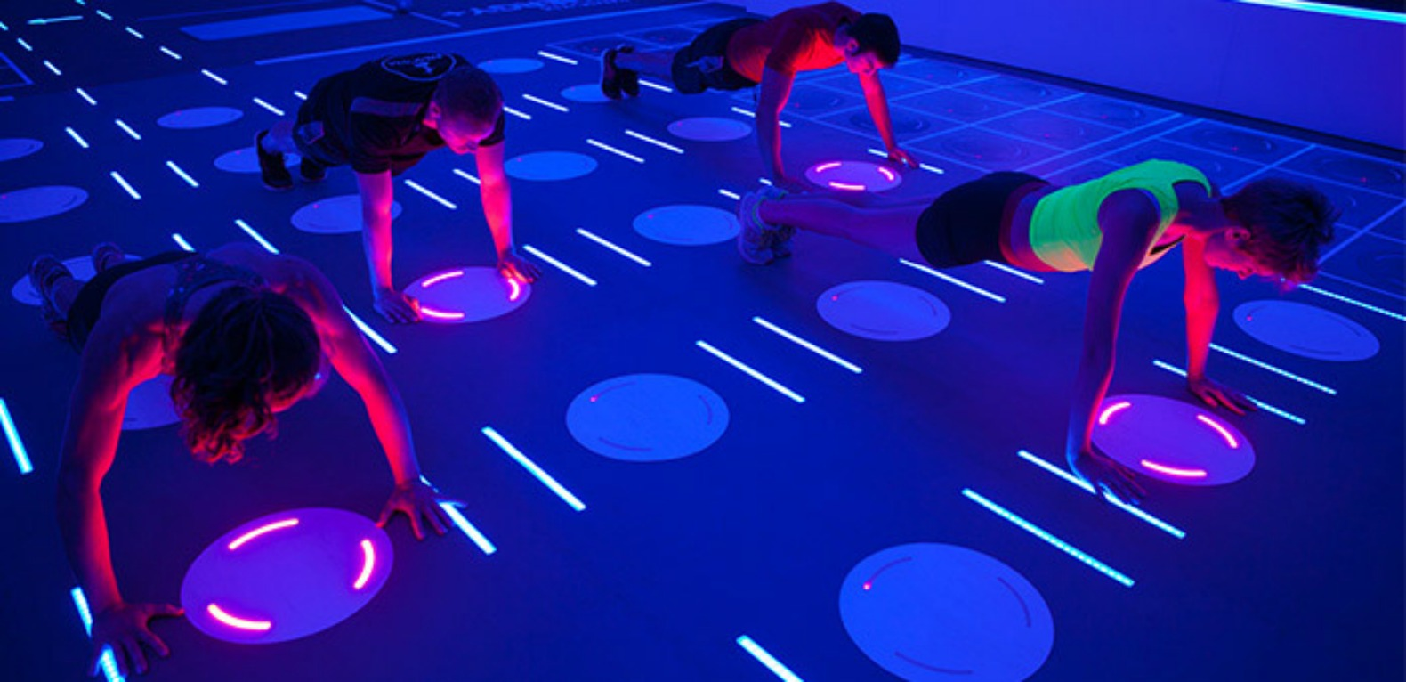Working out at this trippy LED gym is like stepping into a video game