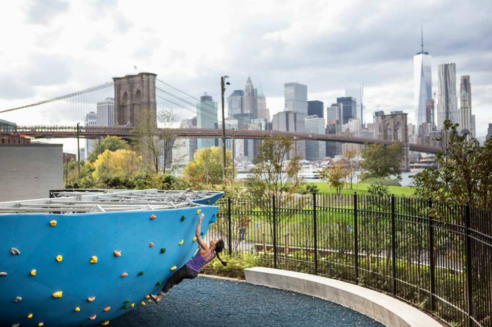 North America's largest outdoor bouldering gym set to open at Brooklyn Bridge Park