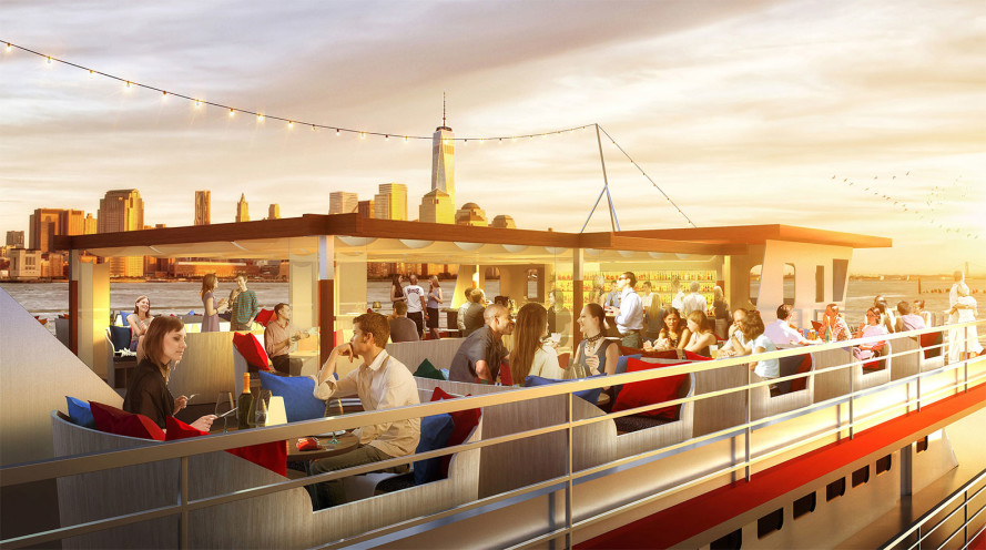 New floating bar and restaurant aboard revamped 10,000-square-foot yacht coming to Pier 81