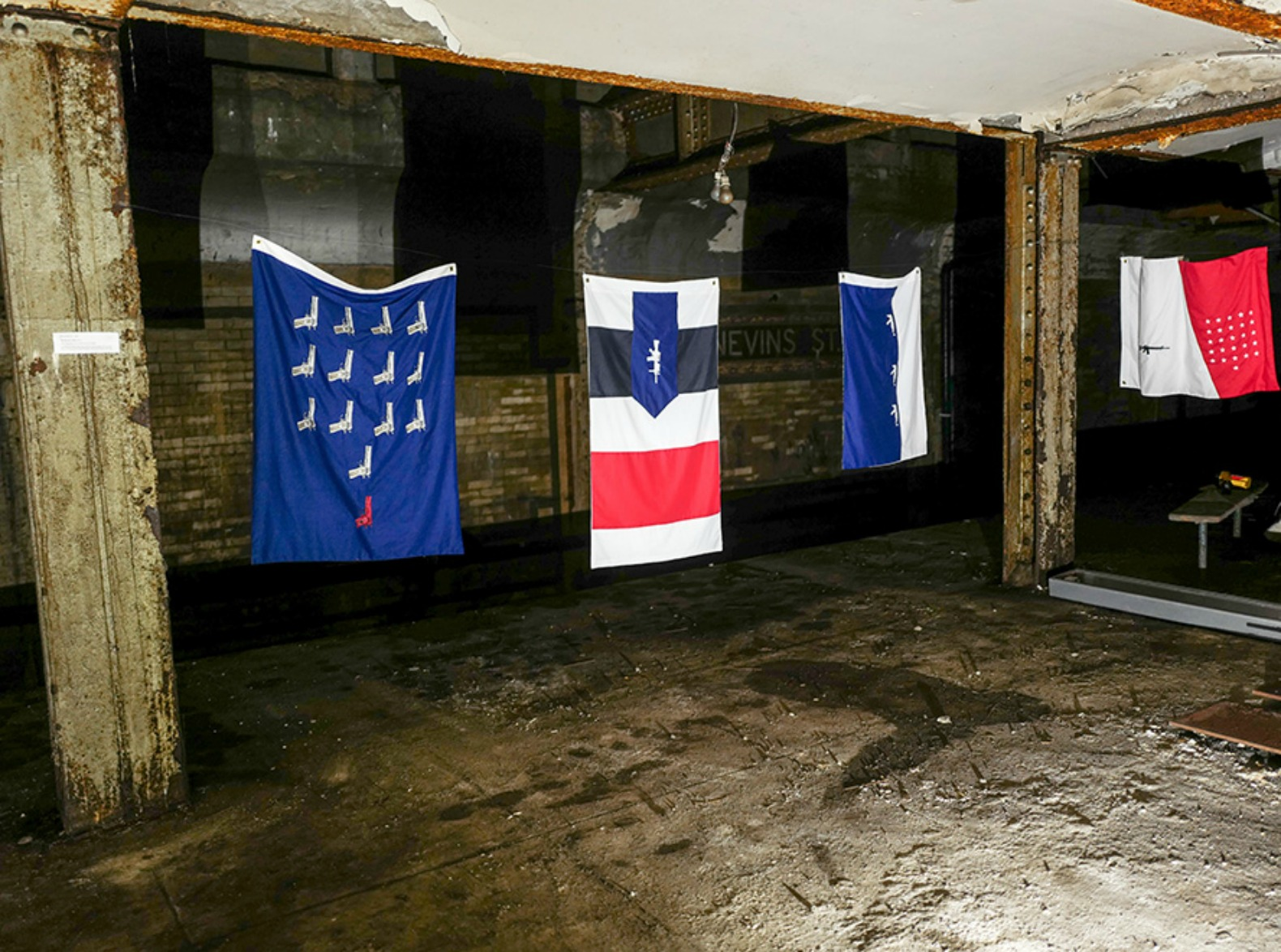 Secret art in abandoned subway tunnel makes statement about gun violence