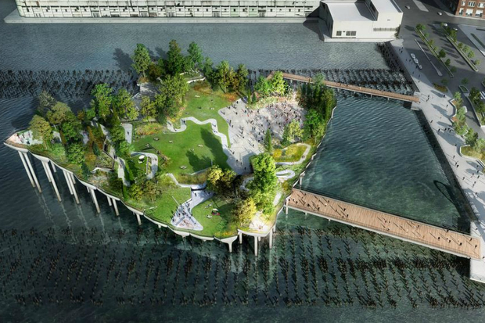 Pier 55 elevated island park finally gets the go-ahead for construction