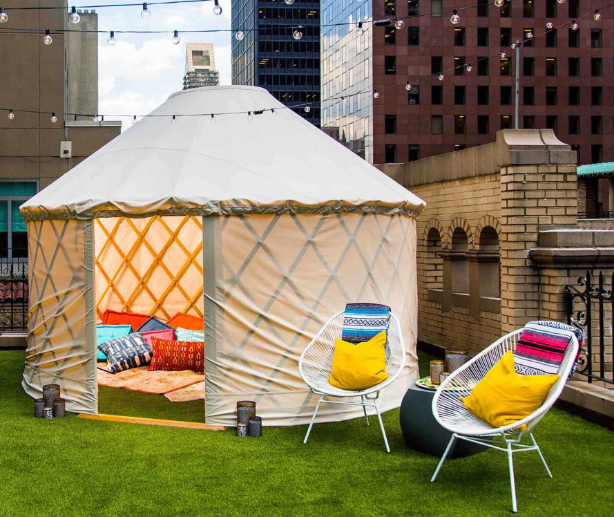 W Hotel's Extreme Wow Suite lets you go glamping in a yurt in the middle of NYC