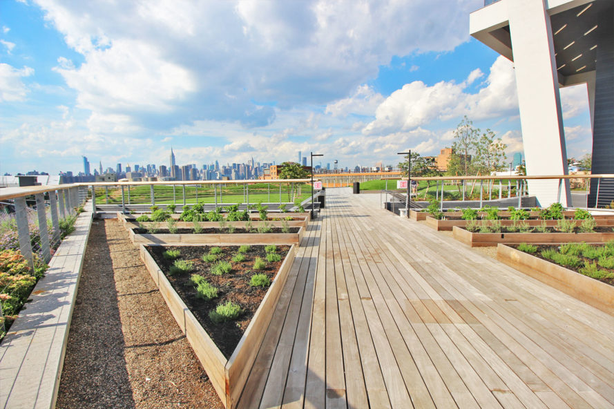 15,000-sq-ft rooftop park boasts sweeping city views and ice cream served out of a 1974 Airstream trailer