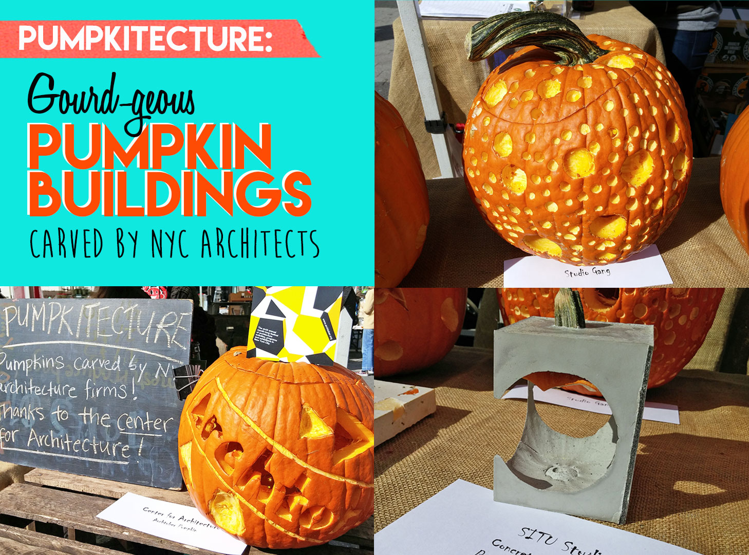 Pumpkitecture: Architects live-carve pumpkins into gourd-geous iconic buildings