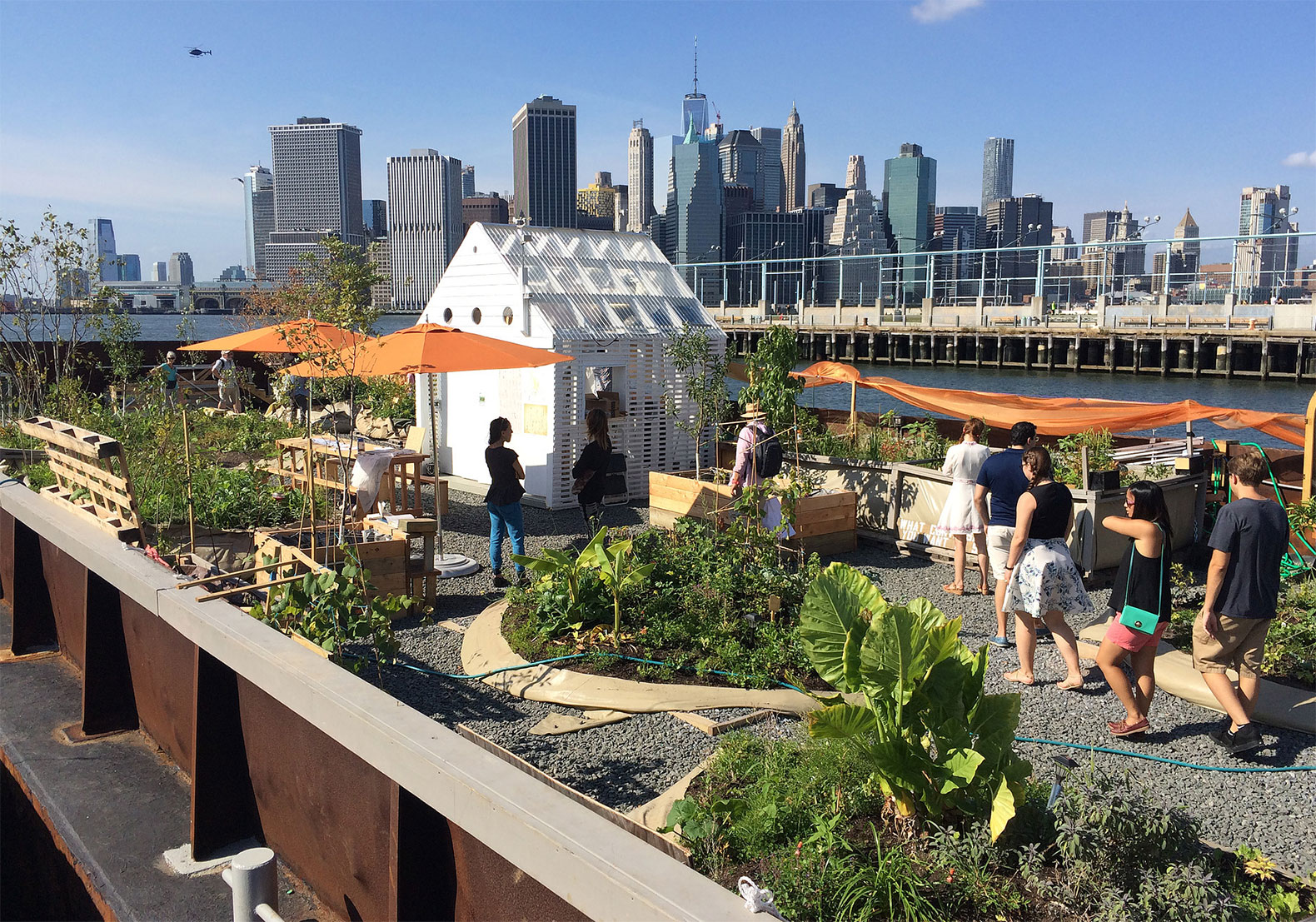 Come eat free food from this floating edible forest before it sets sail again