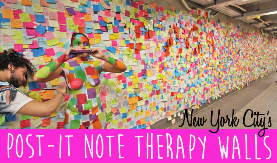 1,000s of subway Post-it Notes provide therapy for New Yorkers after Trump's election