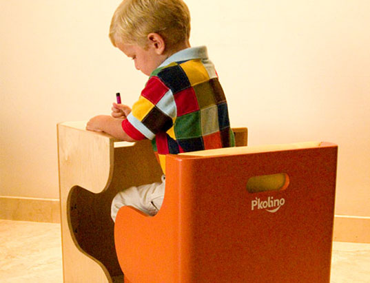 Klick puzzle chair, Puzzle chair, P'kolino, P'kolino Klick, Space Saver, Eco chair, green chair, puzzle, play, workstation