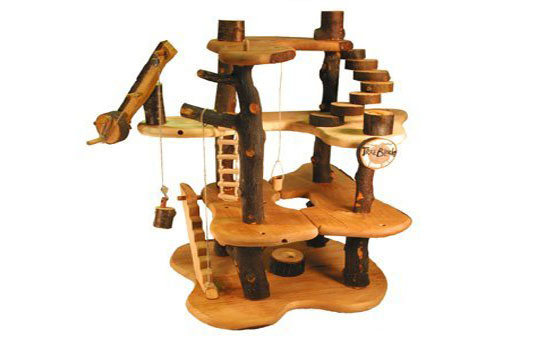 Toy Treehouse Made From Recycled Wood