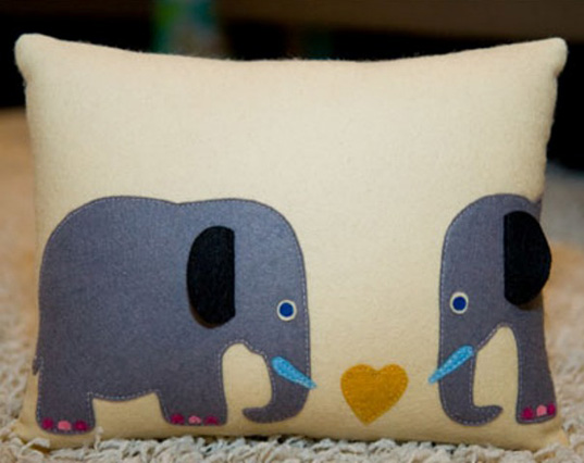 Animal Attraction pillows, Modern Dose, elephant pillows,  elephant attraction pilow, Stella and Petey Elephant, eco pillows, greean pillows, cute pillows