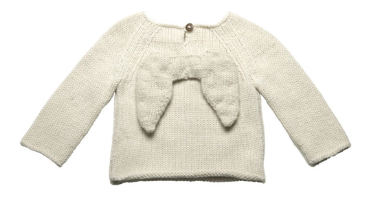 alpaca knit sweaters, baby eco knits, fair-trade knits, green baby costumes, green costume ideas, green costumes, green halloween ideas, Oeuf, Oeuf angel wing sweater, Oeuf designs, Oeuf knits, Oeuf NYC, sustainable style babies, sustainable style kids