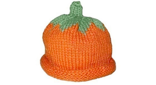 organic pumpkin knit hat, pumpkin hat, eco knits, eco knit pumpkin hat