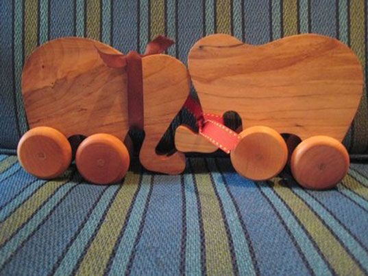 little alouette wood for wee ones, little alouette, wooden toys, wooden teethers, teething keys, handmade wooden toy