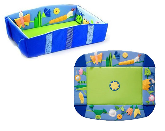 Haba Dream Meadow, Green play mat, green play gym, eco play gym, baby gym, baby play mat, baby play pen