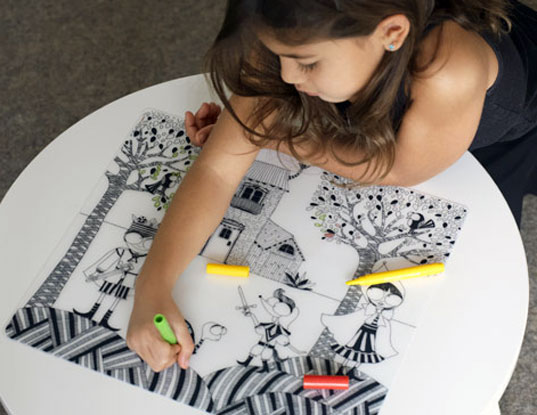 Modern-Twist Ready to Color Reusable Placemats | Inhabitots