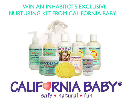 all natural baby skin care, bath care for babies with sensitive skin, california baby, california baby giveaway, eco baby, green baby, green family, green mama, inhabitots exclusive california baby giveaway, organic baby bath products, organic baby skin care