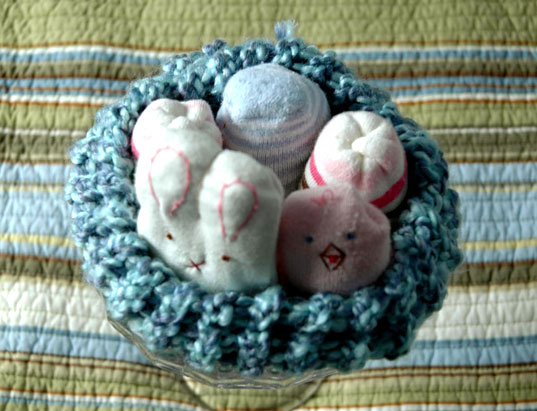 baby socks bunnies, baby socks chicks, DIY crafts, DIY recycling projects, DIY sewing, easter crafts, Heather Donohue crafts, Heather Donohue recycling crafts, recycling baby clothes, recycling crafts, sewing projects