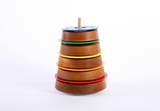 Patrick Kim, Stacking Rhythm Band, stackable music toy, eco friendly music toy, eco friendly toy, Pratt Design, Pratt graduate exhibition, Pratt product design, FSC wood toys, FSC mahogany, rhythm toys