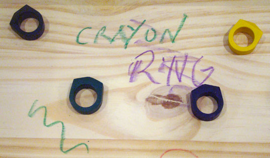 Crayon Rings, Timothy Liles, Future Perfect, ICFF, International Contemporary Furniture Fair