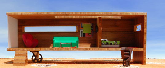 modularean eco house, david baker, prefab for kids, prefab designer, modern prefab, prefab dollhouse