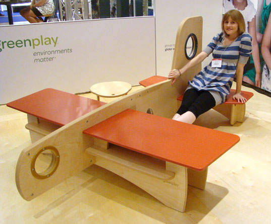 contemporary furniture for kids. greenplay airplane green play glider icff international contemporary furniture fair for kids r