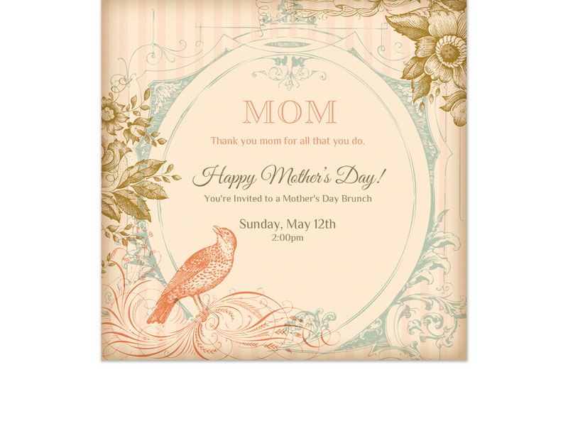 E Cards Can Be Just As Special For Mamas Paper But With Digital You Have The Added Benefit Of Keeping It Green No Waste Manufacturing