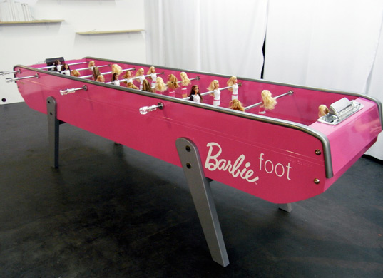 babyfoot, barbie foosball, barbie foos ball, barbie, barbiefoot, chloe ruchon, dmy berlin, foosball table, french foosball, mattel
