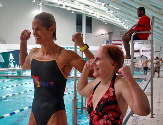 Dara Torres shows off her arms of steel