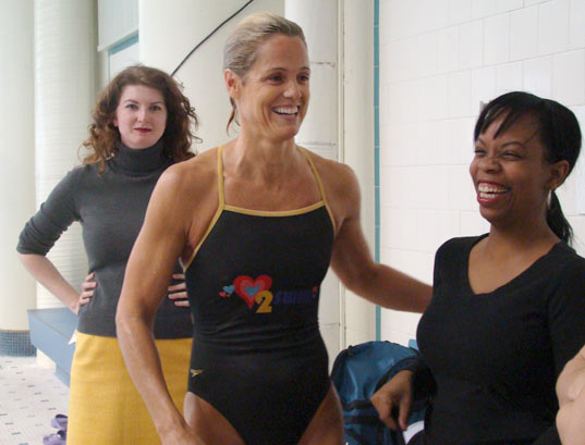 Dara Torres at the HP Simplicity Mom Blogger event
