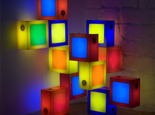 energy efficiency, Glide Twist-Together Lamps, kids light, LED lamps, lego lamps, twisttogether